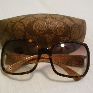 Coach Tortise Shell Sunglasses